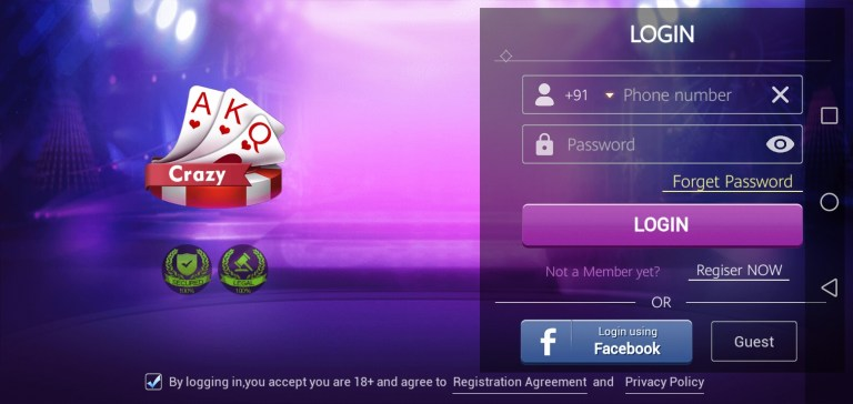 Screenshot of Teen Patti Crazy Game
