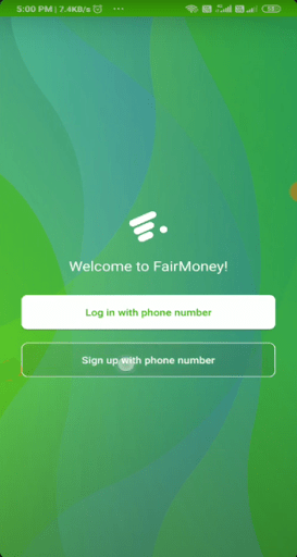 Screenshot of Fairmoney Apk
