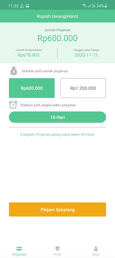 Screenshot of Rupiah Uwang App