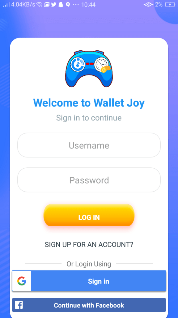 Screenshot of Wallet Joy Apk