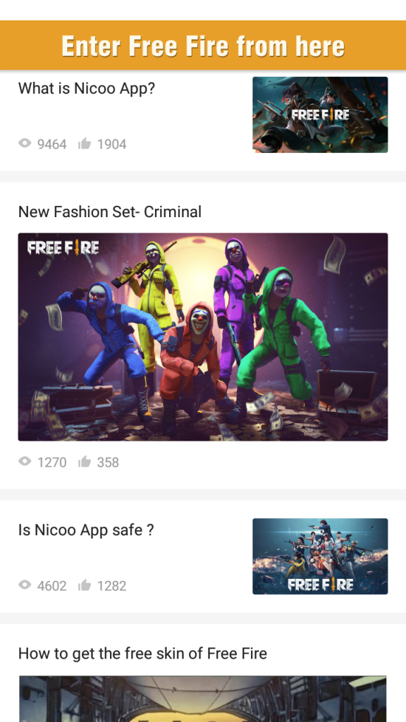 Screenshot of Nicoo For Android