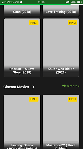 Screenshot of Prmovies App