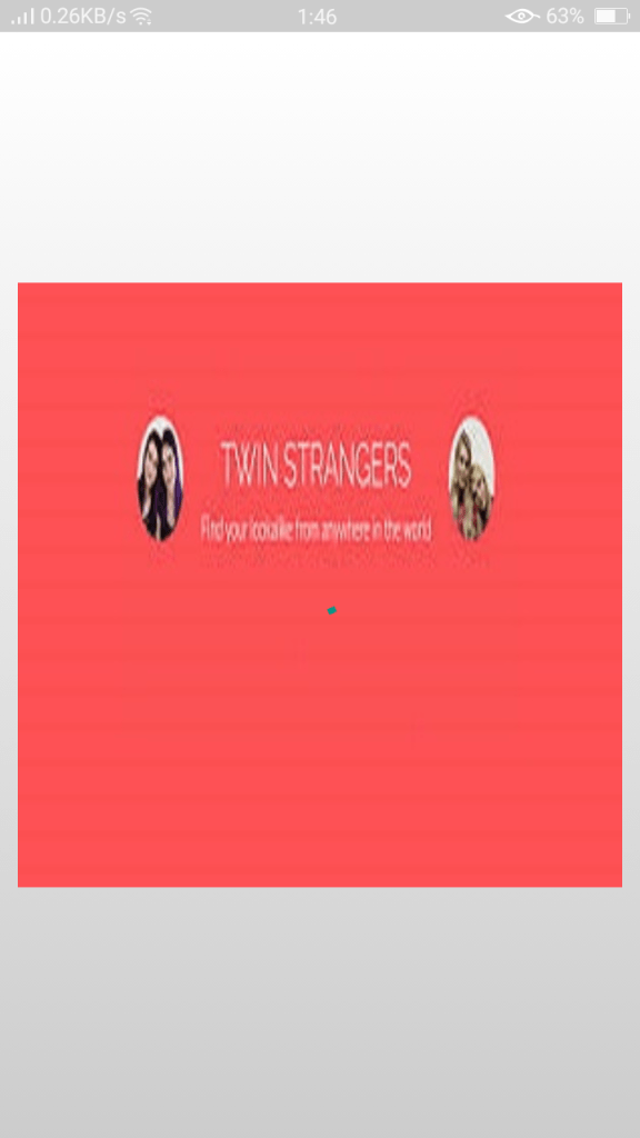 Screenshot of TwinStrangers App