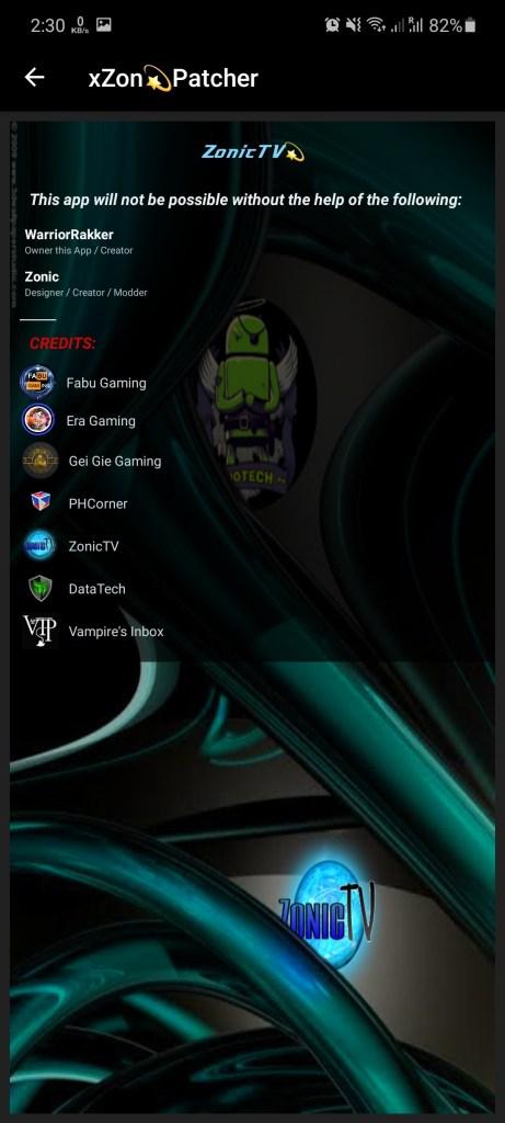 Screenshot of Zonic TV Injector App