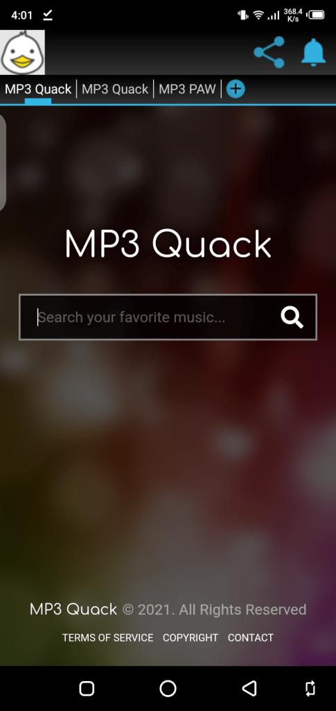 Screenshot of MP3 Quack Apk