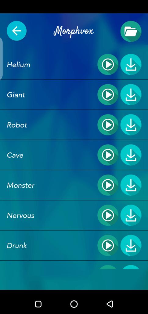 Screenshot of Morphvox Pro Apk