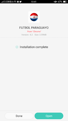 Screenshot of FUTBOL PARAGUAYO Android