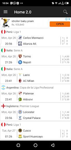 Screenshot of LTScores App