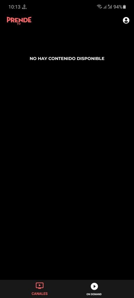 Screenshot of Prende TV App