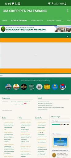 Screenshot of Sikep Mahkamah Agung App