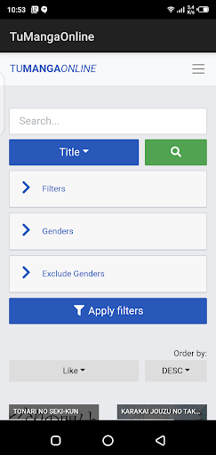 Screenshot of TuMangaOnline App