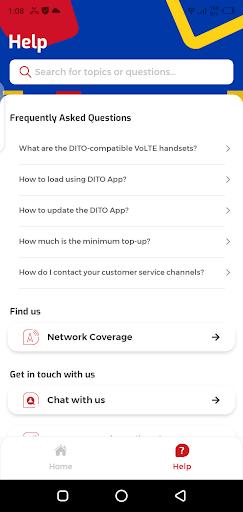 Screenshot of DITO App