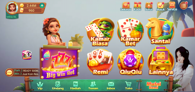 Screenshot of Domino Aceh Latest Version
