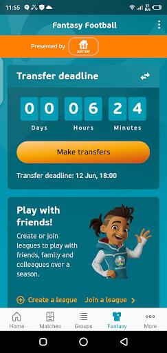 Screenshot of Euro 2020 Official App