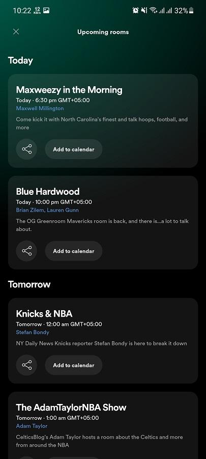 Screenshot of Greenroom Apk