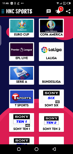 Screenshot of HNC Sports Live TV Android