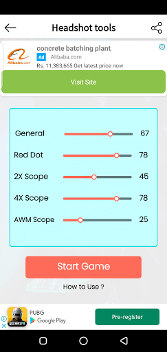 Screenshot of Headshot GFX Tool