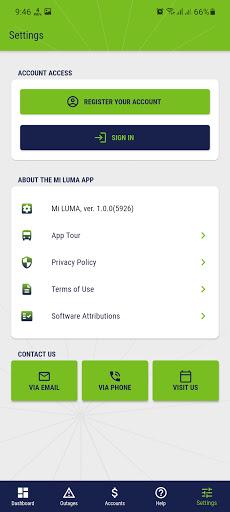 Screenshot of MI Luma App Android