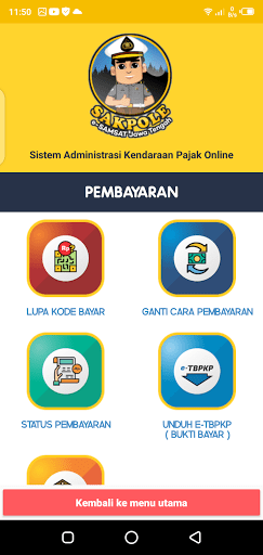 Screenshot of Sakpole E-Samsat Jateng Apk
