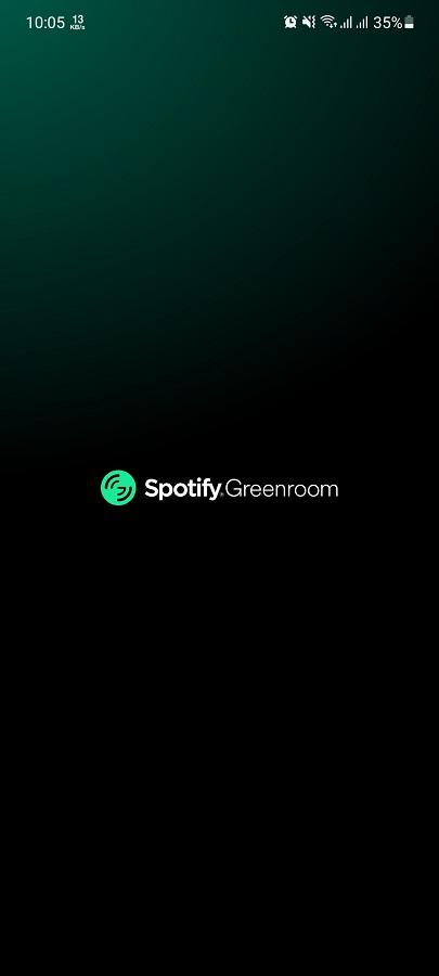 Screenshot of Spotify Greenroom