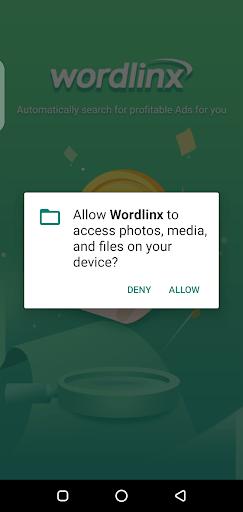 Screenshot of Wordlinx App