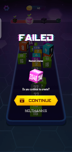 Screenshot of 2048 Cube Winner Android