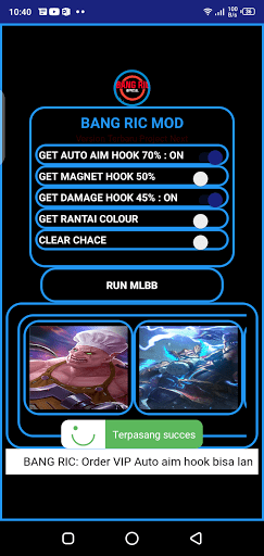 Screenshot of Auto Aim Hook Franco ML