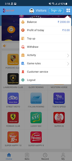 Screenshot of Bet VIP App
