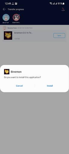 Screenshot of Binemon Apk