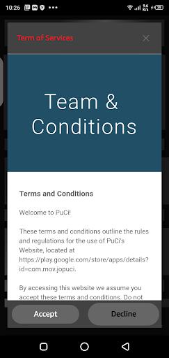 Screenshot of Pucci App