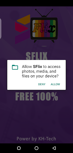 Screenshot of SFlix Android