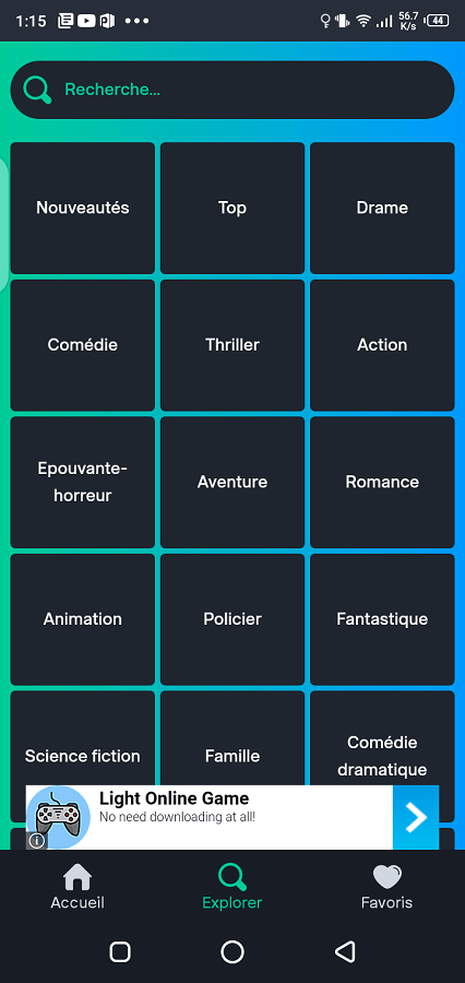 Screenshot of PapyStreaming Android