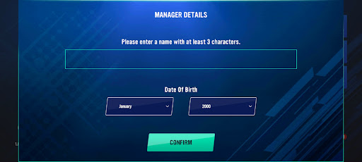 Screenshot of Soccer Manager 2022 Game