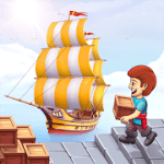 Pocket Ships Tap Tycoon Idle Seaport Clicker v0.5.5 Full Apk
