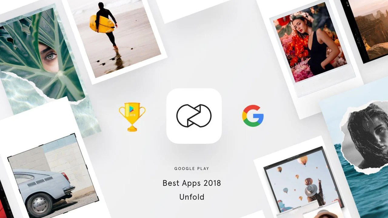 Unfold the app poster