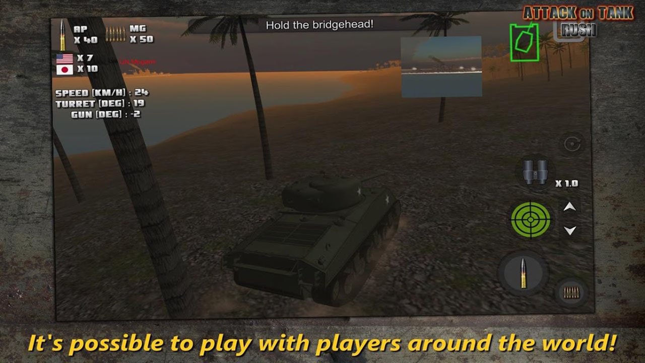 Tank Rush Attack Screen 1