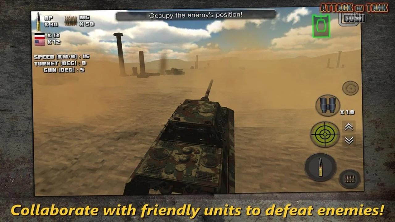Tank Rush Attack Screen 3