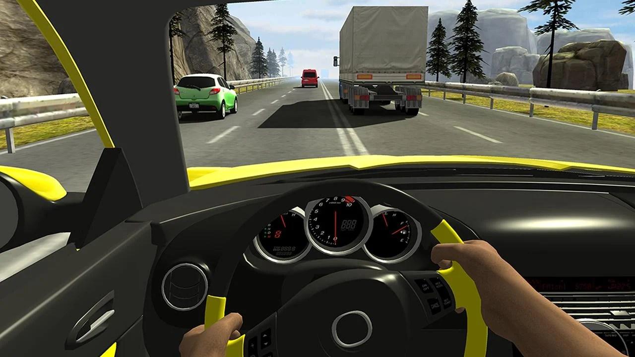 Racing in car 2 screen 3