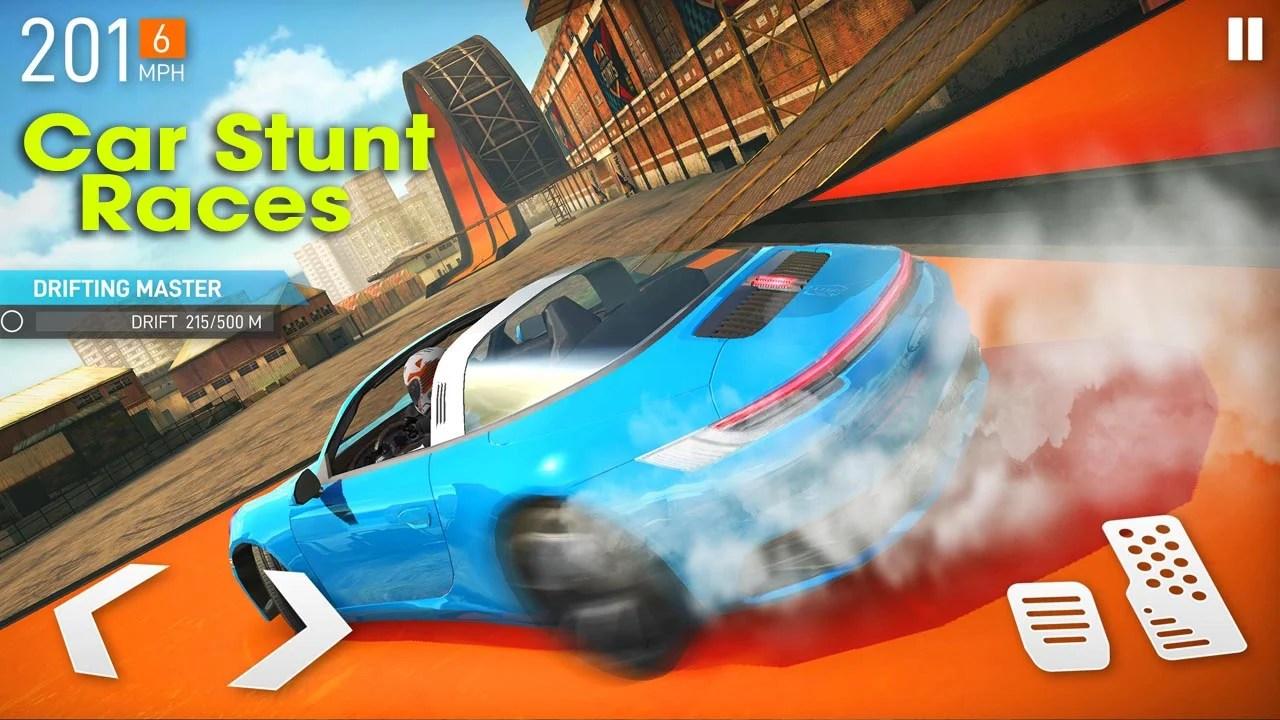 Car stunt race poster