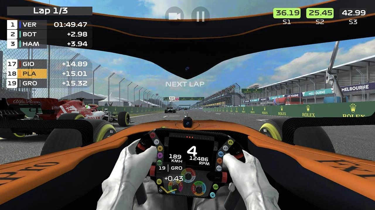 F1 Mobile Racing Screen 2