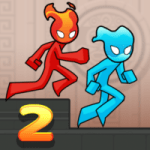 Fire and Water Stickman 2 The Temple 0.3.4 APK MOD Unlimited Money