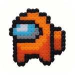 Pixel Art for Impostors – Among Us Color By Number
