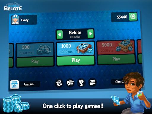 Multiplayer Belote amp Coinche 6.7.0 screenshots 9