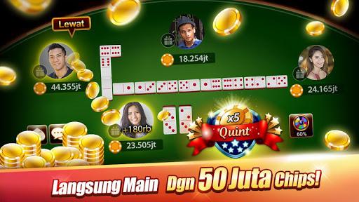 LUXY Domino amp Poker Gaple QiuQiu QQ 99 Remi 5.1.6.0 screenshots 1