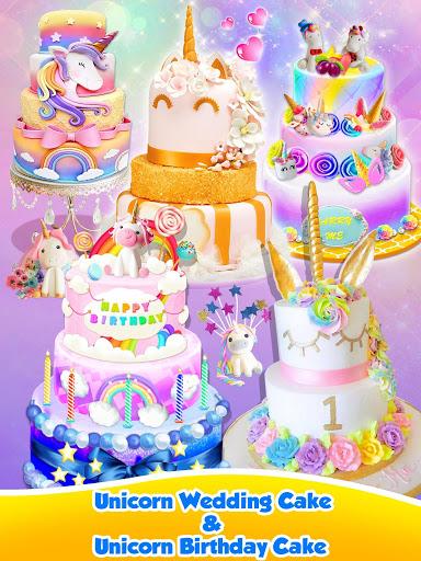 Unicorn Food – Sweet Rainbow Cake Desserts Bakery 2.8 screenshots 10