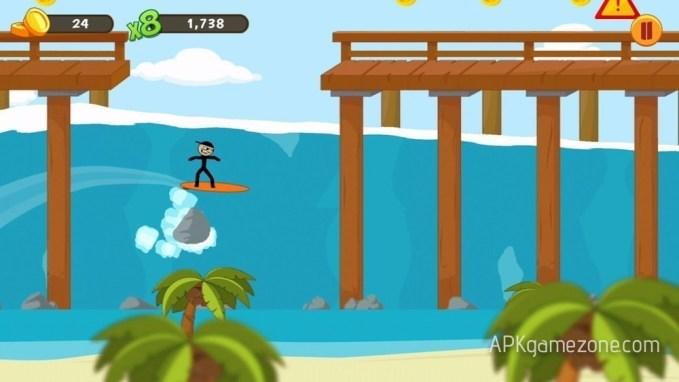 Stickman Surfer Mod APK