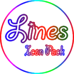 Color lines Icon Pack V 2.5 APK Patched