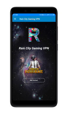 Raincity vpn apk homescreen