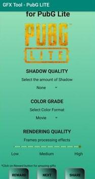 GFX Tool For PUBG Lite Shadow Quality