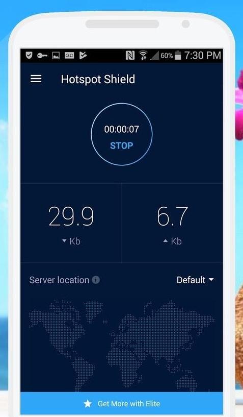 Screenshot of Hotspot Shield Free VPN Proxy Server